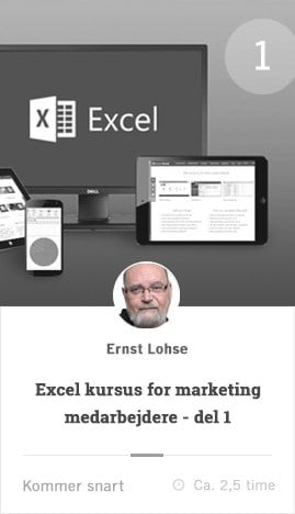 excel for marketing managere kursus