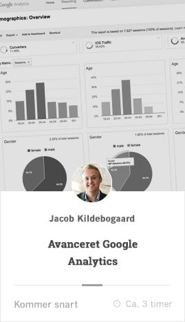 avanceret google analytics kursus