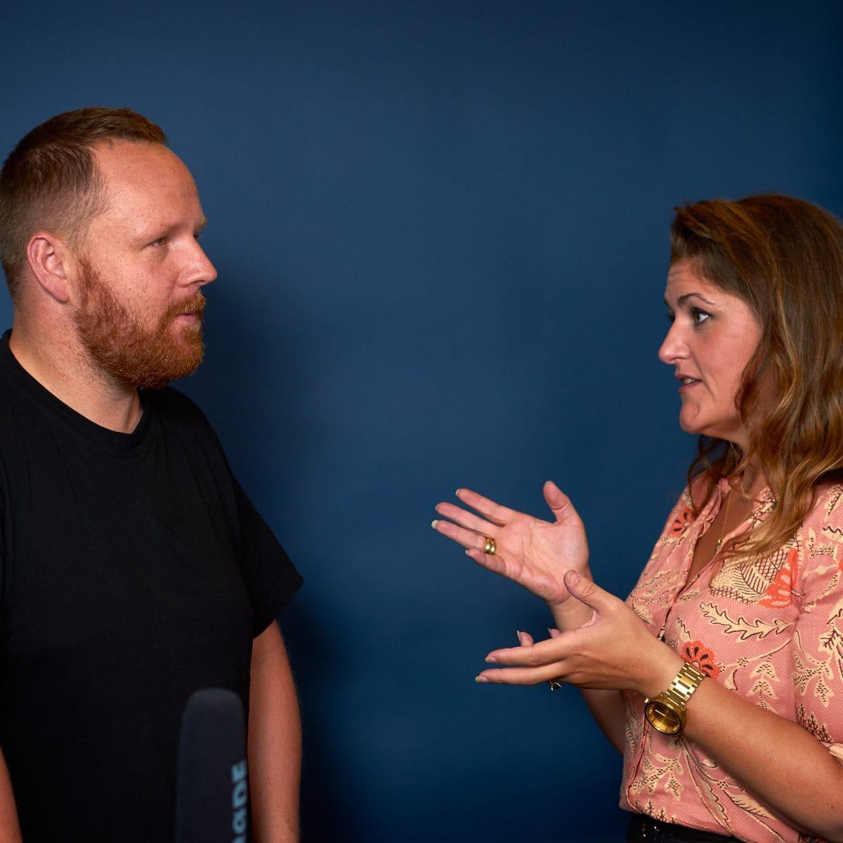 Carina Skouboe og Casper Schneidereit møde samtale online kurser