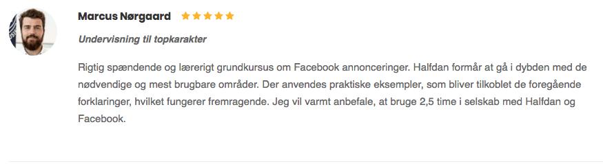 Marcus Nørgaard anmeldelse Undervisning til topkarakter fem stjerner