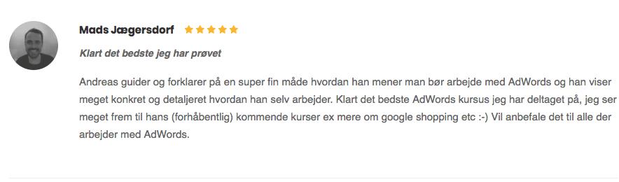 Mads Jægersdorf klart det bedste jeg har prøvet anmeldelse fem stjerner