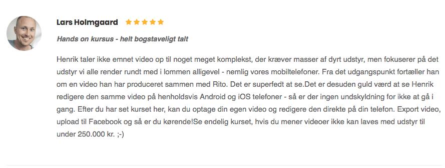 Lars Holmgaard Hands on kursus helt bogstavligt talt anmeldelse